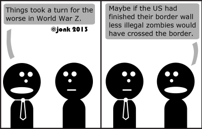 Tie: Things took a turn for the worse in World War Z.